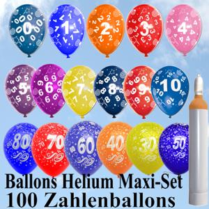 Geburtstagsballons, Ballons und Helium