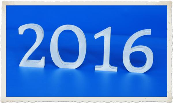 Jahreszahl 2016 Dekoration Silvester